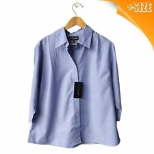 Polyester Button Down Shirt Casual Plus Size Tops & Blouses for Women