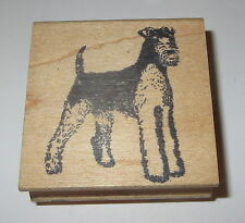 """Airedale Terrier Rubber Stamp Dog Wood Mounted 2"""" Dogs"""