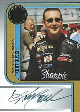KURT BUSCH AUTOGRAPHED 2005 PRESS PASS AUTHENTICS NASCAR PHOTO TRADING CARD