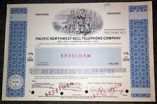 Pacific Northwest Bell Telephone Specimen debenture [stock certificate]