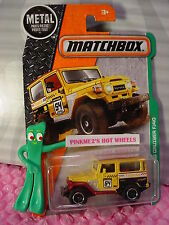 2017 Matchbox #120 TOYOTA LAND CRUISER FJ40☆Yellow/brown☆Explorers☆Case A/B