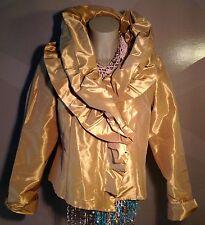 MADELEINE Opulenter Blazer Bluse Gold Größe 40 NEU !