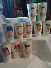 7-11 Mlb Baseball Slurpee Cups (1972-73) 10 Cups in Lot/Sold As Lot/ Used