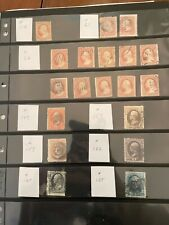 Collection of US Stamps Scott# 11a, 65, 26, 149,157, 159, 162, 165, 185