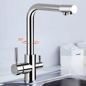 Küchenarmatur Deck Montiert 360° schwenkbar mit Wasseraufbereitungsfunktion