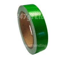 NEW HIGH INTENSITY REFLECTIVE TAPE GREEN 25mm x 10m