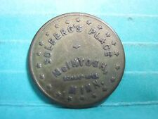 McINTOSH MINNESOTA MN GOOD FOR 5c IN TRADE TOKEN SOLBERG'S PLACE ORIGINAL BRASS