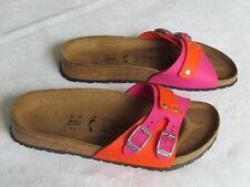 NEW Birkis By Birkenstock Ladies Pink Orange Mules Sandals Size 3.5 EU 36