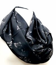 Cat infinity scarf black kitten for cat lovers birthday gift for her anniversary