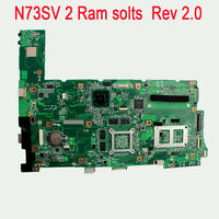 For Asus N73SV Laptop Motherboard GT540 N12P-GS-A1 2 SLOT Rev 2.0 Mainboard