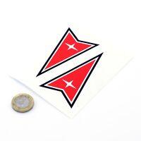 Pontiac Sticker Decal Classic Car Badge Vinyl 100mm x2 Firebird GTO