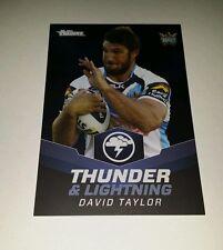 2015 NRL ESP TRADERS GOLD COAST TITANS DAVID TAYLOR THUNDER & LIGHTNING CARD TL9
