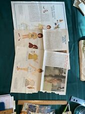 Lot A - 3 pages Betsy McCall Paper Dolls 1962