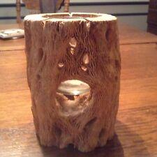 Vintage Cactus Cholla Wood Candle Holder