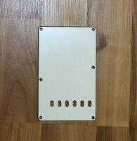 AGED WHITE 3-Ply Back Plate Trem Cover for USA MIM Fender Stratocaster Strat NEW