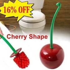 Creative Lovely Cherry Shape Lavatory Brush Toilet Brush & Holder Set Red