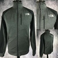 The North Face Grey Black Full Zip Track Soft Shell Jacket Coat Men's Small S