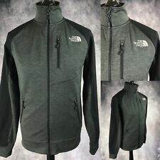 The North Face Grey Black Full Zip Track Soft Shell Jacket Coat Men s Small  S b452e6ec7