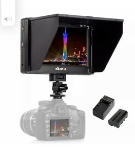 Viltrox DC-70 7'' Clip-on Color TFT LCD HD Monitor for DSLR Camera + Battery