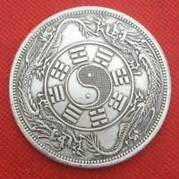 China Coin COPPER COIN ZHONG WAI TONG BAO DOUBLE DRAGON COIN 中外通宝双龙银元