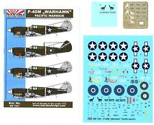 Marabu Models Decals 1/72 CURTISS P-40M WARHAWK Pacific Warrior with Photo Etch