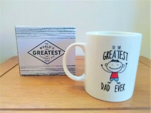 Fathers Day Present From Children The Greatest Dad Ever Mug Gift Boxed From Kids