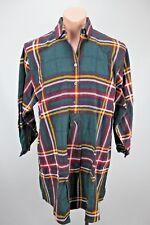VTG 90s Victorias Secret Gold Label L/S Plaid Flannel Button Shirt Nightgown S