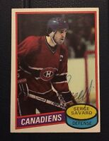 SERGE SAVARD 1981 TOPPS AUTOGRAPHED SIGNED AUTO HOCKEY NHL CARD 26 CANADIENS