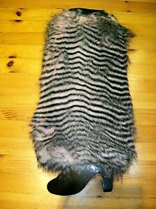 Fluffy Furry Over Boot Cover Topper Leg Warmer Boot Warmers Ladies Men's Unisex