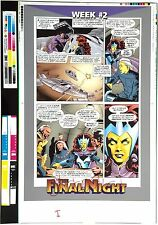 THE FINAL NIGHT ~ SUPERMAN BATMAN RARE PRE-PRESS MATCHPRINT PROOF INTERIOR PAGE