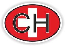 CH SUISSE sticker  Autocollant OVAL drapeau  Voiture moto Caravane coffre casque