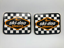 2 Ski Doo Blizzard Nos Vintage Decals /stickers Snowmobiles Winter Sled Original