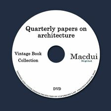 Quarterly papers on architecture 4 Vintage PDF E-Books 1 Data DVD Glass Painting