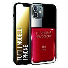 Custodia Cover Morbida nera INKOVER per iPhone smalto donna le vernis rosso red