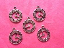 Tibetan Silver Stop Watch/Clock Charm- 5 per pack
