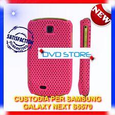 Custodia+Pellicola MESH HOTPINK per Samsung Galaxy Next S5570 (B4)