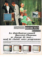 PUBLICITE ADVERTISING  1965   DUCRETET-THOMSON  téléviseur MULTIVISEUR