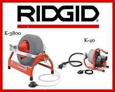 Ridgid K-40 Sink Machine 71722 & Ridgid K-3800 Drum Machine 53117