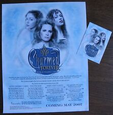 2007 CHARMED FOREVER Trading Cards Sell Sheet (and promo card) - Inkworks