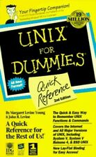 UNIX for Dummies Quick Reference by MARGARET Paperback Book The Cheap Fast Free