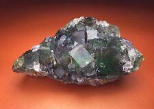 Multi Color Fluorite Cluster Okorusu Mine  Namibia Sweet Purple and Green