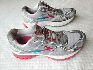 BROOKS Ghost 12 rainbow Pink Gray Blue Running Sneakers Womens 8.5 Wide