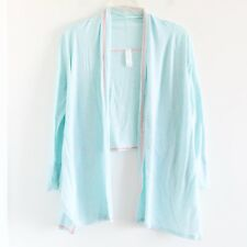 Ivivva mint pastel turquoise lyocell cotton long sleeve top cardigan 12 large