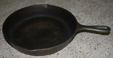 """Cast Iron Frying Pan Skillet USA #8 SK D1 Vintage Cookware Camping 11""""x15"""" Heavy"""