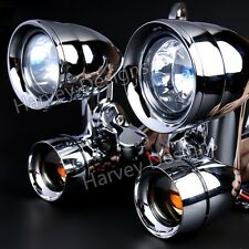 Fairing Mounted Driving Light Turn Signals For Harley Touring Street Glide 02-13
