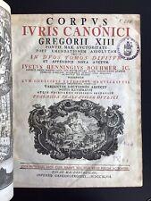 Böhmer - Corpus iuris canonici. Halle 1747, 2 Bde in 1. Frontisp., gest. Titvign