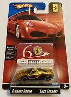 2007 Hotwheels Ferrari Racer Enzo Ferrari Gold 9/24 60th Anniversary MOC!