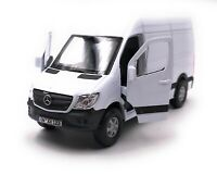 Mercedes Benz Sprinter Panel Van White Model Car with Desired License Plate 1:3