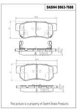 Disc Brake Pad Set-4-Wheel ABS Front,Rear CD863 fits 03-04 Hyundai Santa Fe