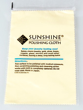 Sunshine Polishing Cloth for Jewelry in Silver, Gold and most other surfaces